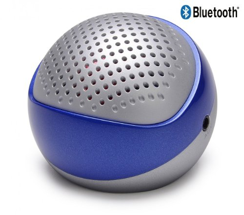 Winter Clearance Sales! Bluetooth Speaker Only For $20.99!! Ayl Portable Bluetooth Wireless Version 4.0 Rechargeable Mini Speaker System For Iphone/ Pc / Cell Phone / Tablet / Car /Mp3 Player (Silver / Blue) With Built-In Speakerphone