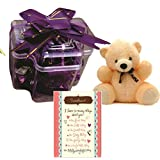 Skylofts Stylish Chocolate Pack With Teddy And A GET WELL SOON Greeting Card