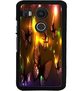 ColourCraft Lovely Butterflies Design Back Case Cover for LG GOOGLE NEXUS 5X
