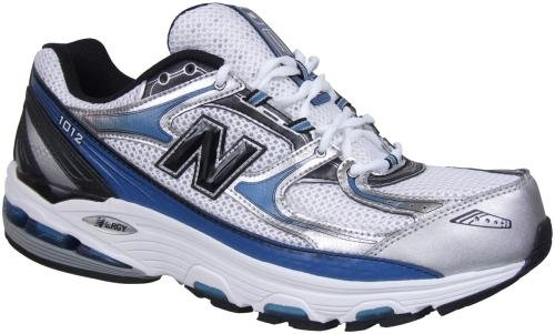 8679a0e28866e New Balance Men's MR1012 Nbx Motion Control Running Shoe,Silver/Blue,14 4E  The New Balance 1012 is a motion control trainer designed with both maximum  ...