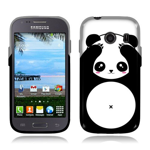 NextKin Samsung Galaxy Ace Style S765C Stardust S766C Case, Flexible Slim Silicone TPU Skin Gel Soft Protector Cover - Panda Bear Black White (Galaxy Ace Style Silicone Case compare prices)
