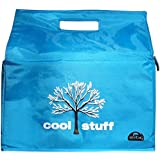 Cool Stuff Insulated Reusable Grocery Shopping Bags By Keribag, in Blue with Tree Print