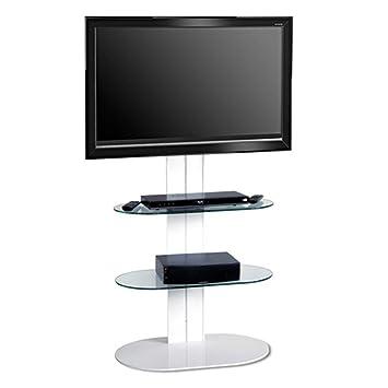 """Original Standmodell: L&C Totem 1500 Base TV Standfuß Weiß - Empfohlene TV-Größe: 40"""" - 50"""" (102 - 127cm) - VESA 200x200 200x300 300x300 400x200 400x300 400x400 600x200 600x400 mm"""