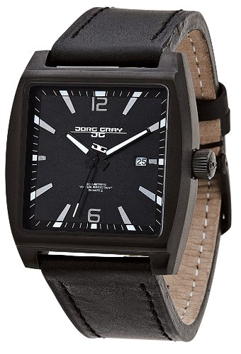 Jorg Gray JG5200-17 - Reloj analógico de cuarzo para hombre con correa de piel, color negro