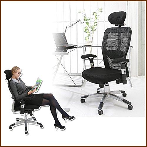 UNE BONNE(ウネボネ) オフィスチェア 椅子 ロッキング ブラック