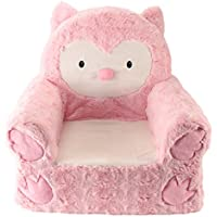 Sweet Seats Adorable Pink Owl Children's Chair