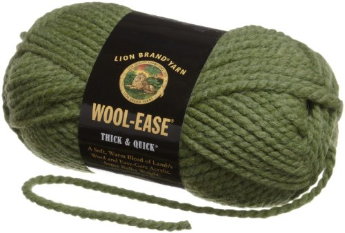Lion Brand Yarn 640-131B Wool-Ease Thick & Quick Yarn, Grass