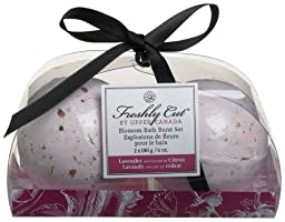 Upper Canada Soap & Candle  Blossom Bath Burst Set Lavender & Citron, Two 6-Ounce Fizzies (Pack of 2)