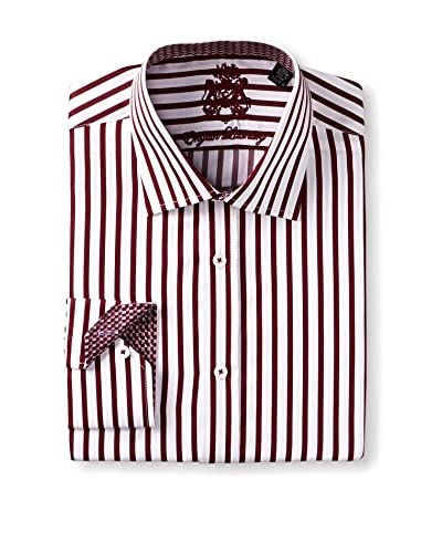 English Laundry Men's Stripe Long Sleeve Dress Shirt