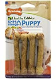 Nylabone Healthy Edibles Petite Sweet Potato and Turkey Flavored Puppy Dog Treat Bones, 4 Count