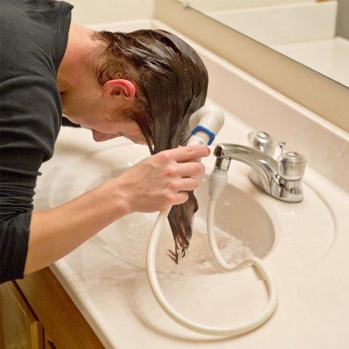 Sink Faucet Rinser Dog Baby Hair Washing Bath Easy Setup Bathroom Tub ...
