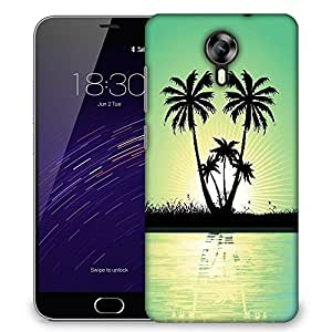 Snoogg abstract tropical background Designer Protective Back Case Cover For Meizu M2