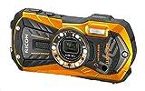Ricoh WG-30W Digitalkamera (16 Megapixel, 5x opt. Zoom, 7,2x dig. Zoom, 6,9 cm (2,7 Zoll) Display, HDMI, WiFi, USB 2.0) orange