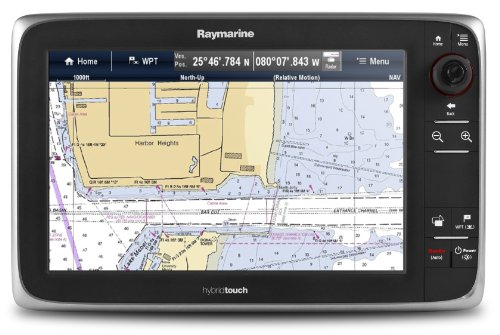 Raymarine e127 12.5-Inch Touchscreen Multi-Function Display/Fishfinder with Lighthouse US Coastal Charts