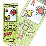 キッコーマンデイリー 紀文 豆乳飲料 メロン 紙パック200ml×18本【×2ケース:合計36本入】