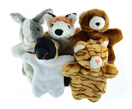 Animal-Hand-Puppets-Set-for-Kids-Fox-Bunny-Bear-Cat-Plush-Toy-Gift