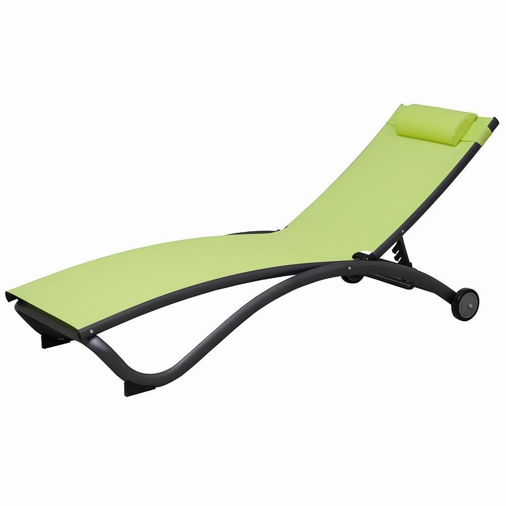 Siena Garden 255083 Madra Rollliege, anthrazit/limette Alu/anthrazit, Bezug/limette günstig online kaufen