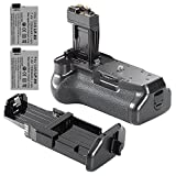 Neewer® Battery Grip for Canon EOS 550D/600D/650D/700D Rebel T2i/T3i/T4i/T5i Camera + 2 Pieces LP-E8 Batteries