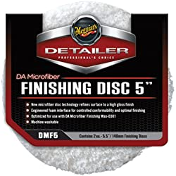 """Meguiar's DMF5 5"""" DA Microfiber Finishing Disc, (Pack of 2)"""