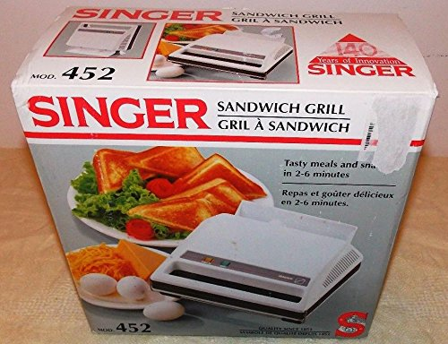 Vintage 80'S Sandwich Grill Model 452 By Singer - New In Box