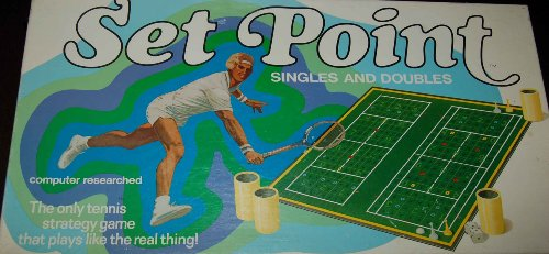 SET POINT Tennis Strategy Game Singles Doubles - 1