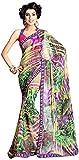 Vogue4All Women's Georgette Saree (Multi-Colored)