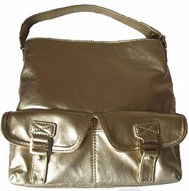 Michael Kors Gold Metallic Ranger Bag Purse