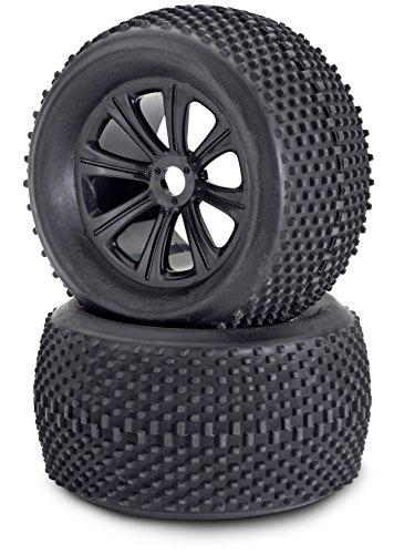 Carson-500900077-18-ReifenFelgen-Set-Truggy-Modellbauzubehr-2-Stck-schwarz