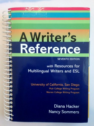A Writer's Reference 7th Edition with Resources for Multilingual...