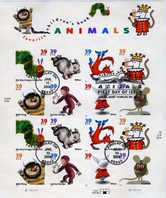 Animals 39 Cent First Day Cancelation US Stamps 3987-94