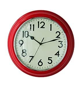 Premier Housewares Kitchen Wall Clock Red Kitchen Home