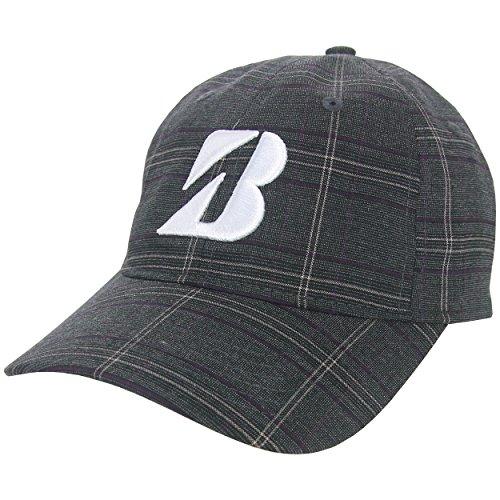 bridgestone-golf-plaid-adjustable-hat-charcoal