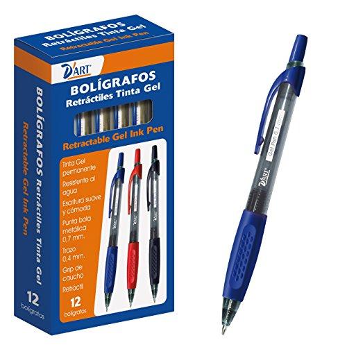dart-79425-caja-de-boligrafos-tinta-gel-retractil-07-mm-12-unidades-color-azul