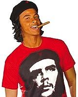 Bonnet Che Guevara avec cheveux casquette chapeau combattant pour la liberté étoile rouge couvre-chef Cuba bonnet de carnaval bonnet carnaval