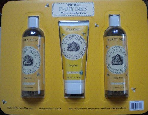 Burt's Bees Baby Bee Natural Baby Care Shampoo, Lotion Set