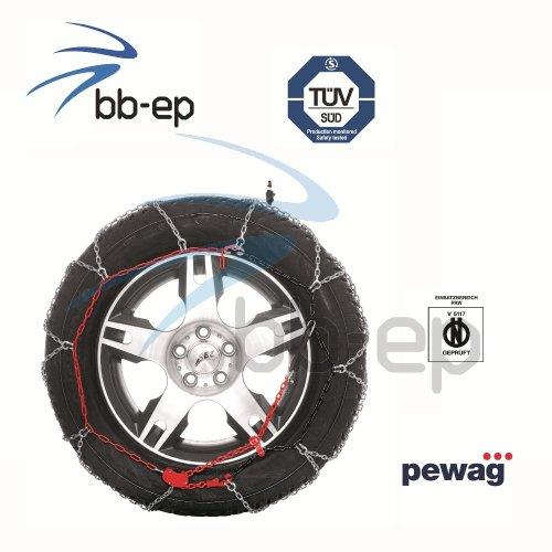 Zuverlässige Pewag Schneekette Brenta 9 für nahezu alle PKW´s mit der Reifengröße - 195/60- R15 - TÜV geprüft & Ö-Norm V 5117