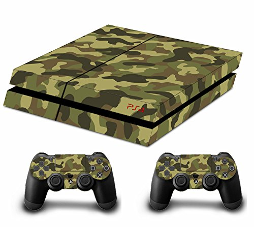 DOTBUY PS4 Pelli Playstation 4 Vinile Adesivi Skin Sticker Giochi PS4 Sistema + Due Decalcomanie del Dualshock Controller (Soldier Green)