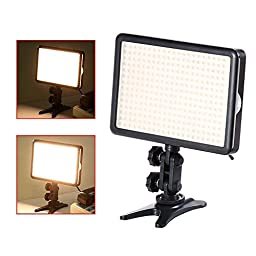 Bestlight LED308C LED High Power Dimmable Video Light Kit with Built-in LCD Panel for Canon, Nikon, Pentax and Other Digital DSLR Camerasn Camcorders