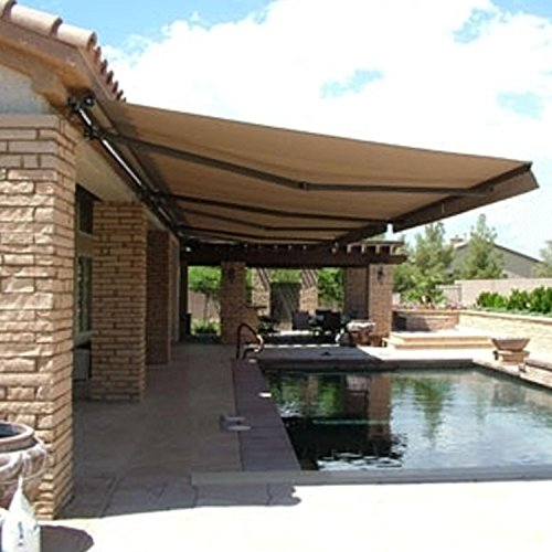 Retractable Awning 12x10 Ft, Sand Color image