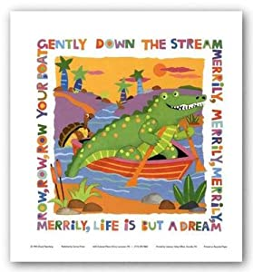 (12x12) Cheryl Piperberg Row Your Boat Art Print Poster