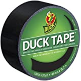 Duck 1265013 1.88  Inch x 20 Yards Color Duct Tape, Black, Single Roll