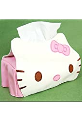 Hello Kitty Head Shaped Tissue Box Cover White