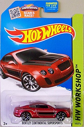 Hot Wheels, 2015 HW Workshop, Bentley Continential Supersports [Metallic Maroon] Die-Cast Vehicle #192/250