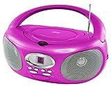 Riptunes CDB220 Portable CD Boombox (Pink)