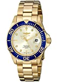 Invicta Pro Diver Unisex Quartz Watch with Gold Dial  Analogue display on Gold Plated Bracelet 14124