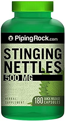 Stinging Nettle - 500mg - 180 CAPSULES - (Urtica dioica) BIG BARGAIN BOTTLE - 1st CLASS P&P by PIPING ROCK