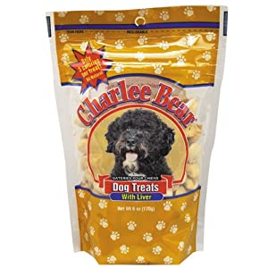 Charlee Bear Dog Treat, 6-Ounce, Liver