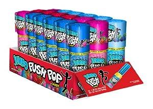 Bazooka Jumbo Push Pop, 1.06 Ounce (Pack of 18)