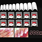 SWT 500X White False Acrylic Nails --- Great for Nail Art --- 10 Different Sizes to Meet Different Needs of Nail Sizes