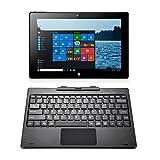 iRULU WalknBook 3 10.1 Inch Notebook, Hybrid 2 in 1 Tablet PC, Microsoft Windows 10 Operation System, Quad Core, Detachable Keyboard (Dark Gray) video review